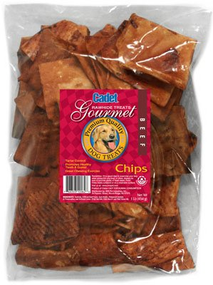 Ims Trading 10062-16 Gourmet Dog Treats, Rawhide Chips, Beef, 1-Lb. - Quantity 12 by Ims Trading