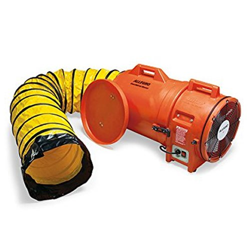 Allegro Industries 954325 Plastic Compaxial Blower, Ac with 25' Ducting and Canister Assembly, 12''