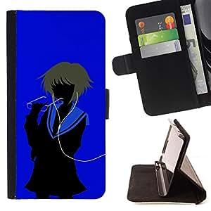 BullDog Case - FOR/Apple Iphone 6 PLUS 5.5 / - / iAnime /- Monedero de cuero de la PU Llevar cubierta de la caja con el ID Credit Card Slots Flip funda de cuer
