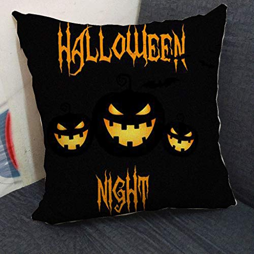 MoonHome Halloween Pumpkin Throw Pillow Cover Pillow Cases Decorative Sofa Cushion CoverHalloween SCushion Decorating Cotton Linen 18