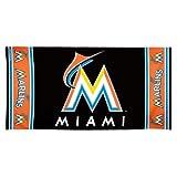 MLB Miami Marlins 30 by 60 Fiber Reactive Beach Towel