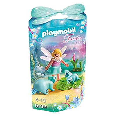 PLAYMOBIL 9139 Fairy Girl with Raccoons Playset, Multicolor: Toys & Games