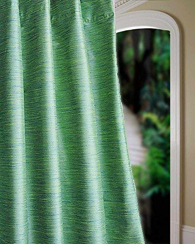 Heavy faux silk dupion room darkening curtain/panel/drape (Green, 52:W X 84