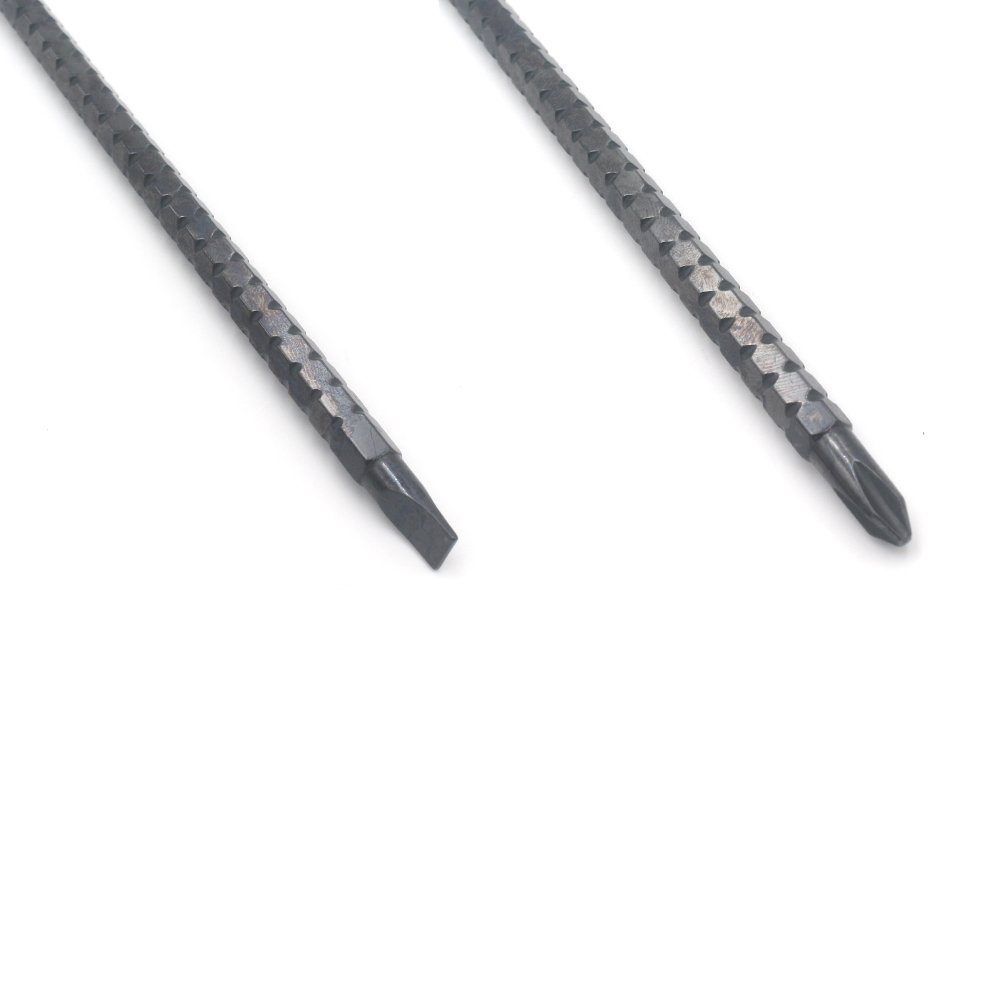 Magnetic 2 In 1 Cross Tip and Flat Tip Miular T Shape Screw Driver