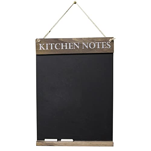 Chalkboards UK Kitchen Notes Chalkboard, Wood, Rustic Brown, 42 x 30 x 1.6 cm