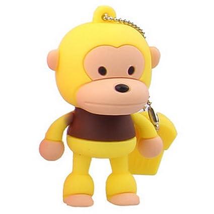 Amazon Com Mini Cartoon Yellow Monkey 8gb Flash Disk Thumb Drive