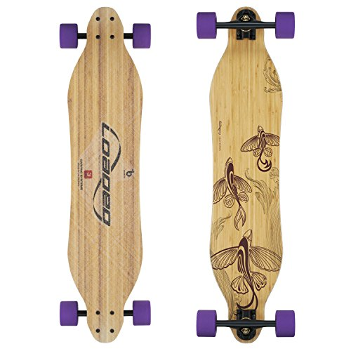 Loaded Boards Vanguard Bamboo Longboard Skateboard Complete (83a Durian, Flex 3)