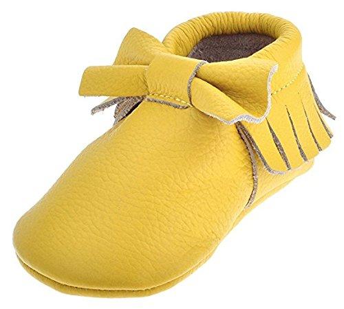 Sayoyo Premium Bow Quasten Weiches Leder Kinderschuhe Baby Lauflernschuhe