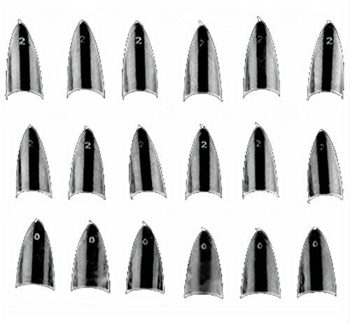 500pcs Clear Sharp Ending Stiletto glitter Color False Nail Tips Acrylic Nail