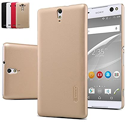 sports shoes bcd89 62b88 Sony Xperia C5 Ultra Back Cover, Nillkin Frosted Shield Hard Case Back  Cover for Sony Xperia C5 Ultra (Gold)