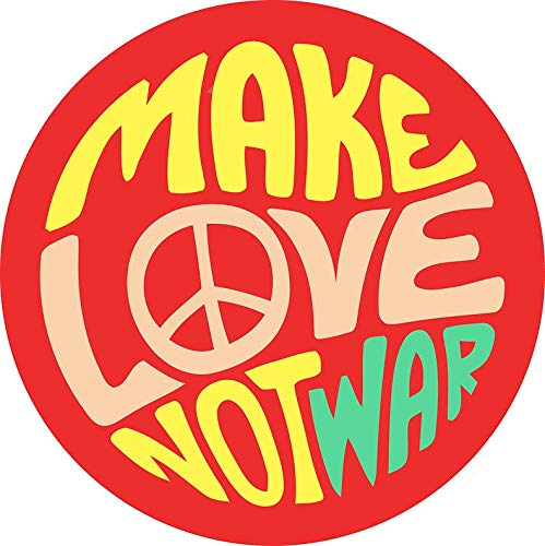 Inspirational Quote. Make Love not war Sticker Decal Window Bumper Sticker Vinyl 5
