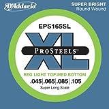 Best D'Addario Bottom Hybrids - D'Addario EPS165SL ProSteels Bass Guitar Strings, Custom Light Review