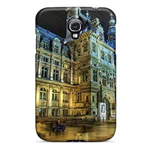 Tpu Case Cover Compatible For Galaxy S4/ Hot Case/ Town Square In Movement Hdr