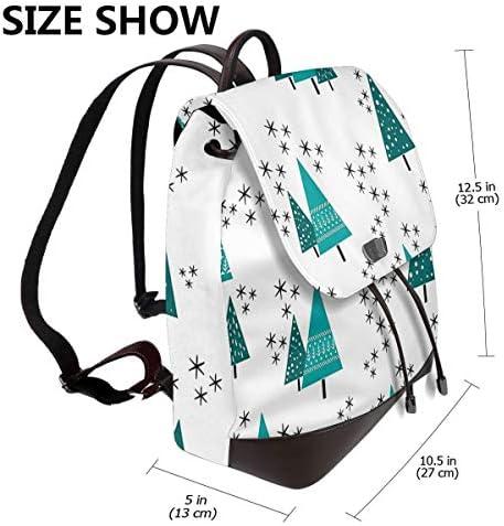 Zaino Donna Vera Albero di Natale, Borsa Da Viaggio a Grande Capacità, Borsa a Tracolla Lady Fashion Backpack Daypack per Scuola Viaggio Lavoro