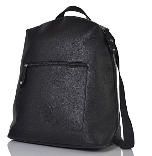 a00dedcc11cf5 PacaPod Hartland Black Designer Baby Diaper Bag - Luxury Faux Leather  Backpack 3 in 1 Organising