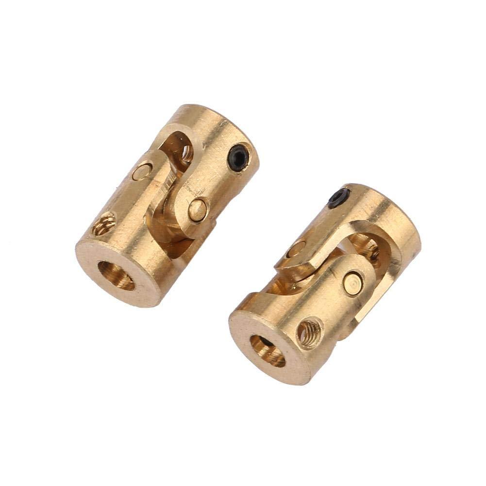 3mm Qinlorgo Universalgelenk 2 st/ücke Wellenkupplung Motor Stecker DIY Lenkung Messing U-Joint 3