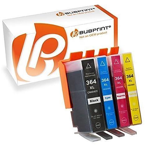 Bubprint 4 Druckerpatronen kompatibel für HP 364XL 364 XL für DeskJet 3070A 3522 OfficeJet 4620 PhotoSmart 5525 6510 6525 752
