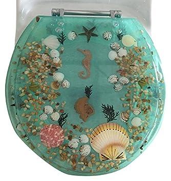 17 Green 17 Daniels Bath /& Beyond polyresin toilet seat seahorse green Daniels Bath /& Beyond Polyresin Round Seahorse Toilet Seat