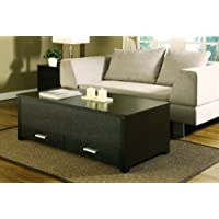 ioHOMES Achley Trunk-Style Coffee Table, Dark Espresso