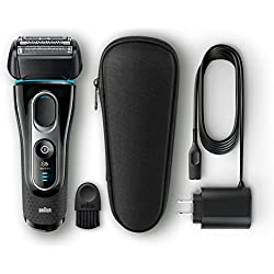 Braun Series 5 Men's Electric Foil Shaver with Wet & Dry Integrated Precision Trimmer & Rechargeable and Cordless Razor with Travel Case, 5145s