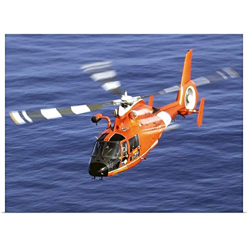GREATBIGCANVAS Poster Print Entitled A Coast Guard HH 65A Dolphin Rescue Helicopter in Flight by Stocktrek Images 24