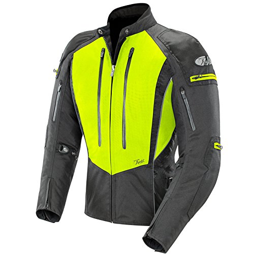 Joe Rocket Atomic 5.0 - Womens' Textile Motorcycle Jacket - Hi-Vis Yellow/Black - Large