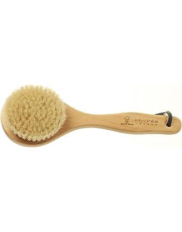 Cepillo corto para el cuerpo con cerdas naturales, cepillado en húmedo y seco