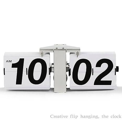 Dar la vuelta al reloj Nuevos relojes de arte Reloj Retro Flip Reloj Bell Grandes Reloj