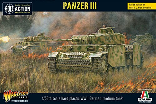 Panzer Tank Iii - Bolt Action Panzer III Tank 1:56 WWII Military Wargaming Plastic Model Kit