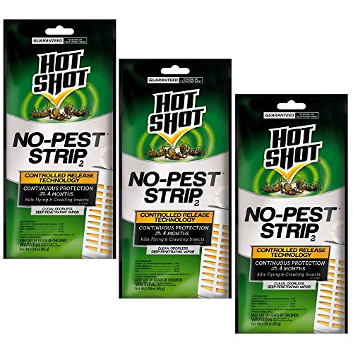 - Hot Shot No-Pest Strip 2, Controlled Release Technology Kills Flying and Crawling Insects 2.29 Ounce (Value Pack of 3)