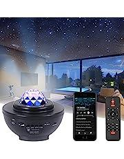LED-stjärnhimmelprojektor med Bluetooth-högtalare I stjärnljus projektor nattlampa/bluetooth musikspelare/fjärrkontroll/timer perfekt för rumdekoration, fest