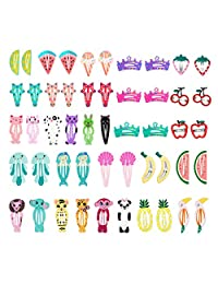 50 Pcs Baby Girls Hair Clips, Lovely Metal Snap Hair Pins for Kids Girls Hair Accessories