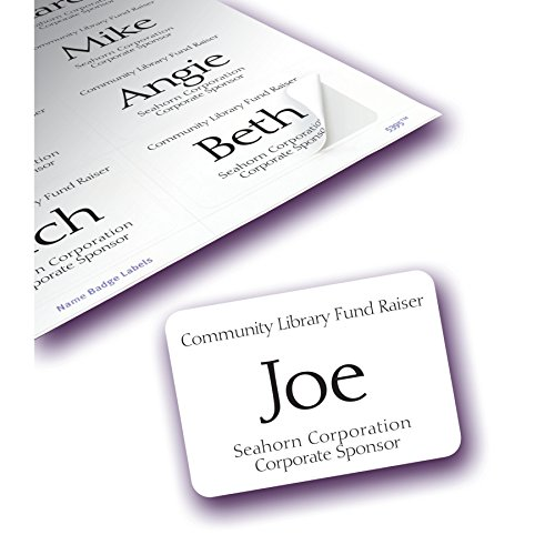 low cost avery adhesive name badges 2 1 3 x 3 3 8 inches box of