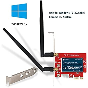 FebSmart Wireless AC 1200Mbps Dual Band PCI Express (PCIe) Wi-Fi Adapter Wi-Fi Card for Windows 10 (32/64bit) Desktop PCs Only-Marvell AVASTAR Wireless AC ...