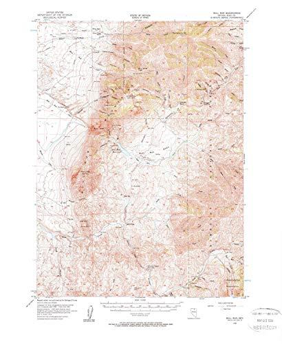 - YellowMaps Bull Run NV topo map, 1:62500 Scale, 15 X 15 Minute, Historical, 1956, Updated 1963, 21.9 x 17.9 in - Tyvek
