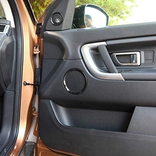 車のABSブラックドアパネルスピーカー装飾リングに適していますランドローバーディスカバリースポーツ2015-2019 Autozone