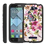 CaseAVE [GUARD SERIES] Slim Hard Shell Protective [2PCS] Case Snap on Cover [ Butterfly Flower ] for Alcatel One Touch Fierce 2 7040 / Pop Icon A564C
