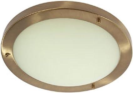 Imagen deOaks Lighting Rondo - Lámpara de techo para baño (latón, estilo antiguo), color dorado