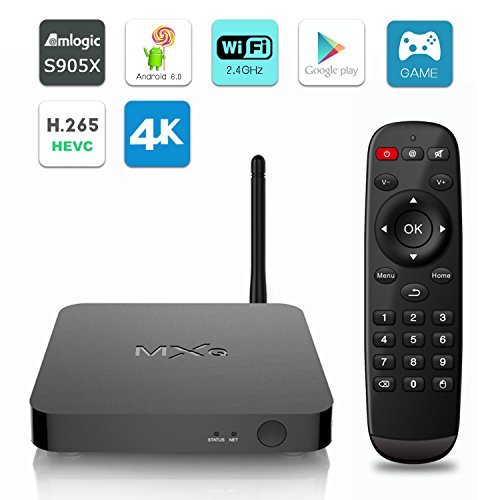 MXQ Android 6.0 TV BOX Ultra HD 4K Amlogic S905X Quad Core 1