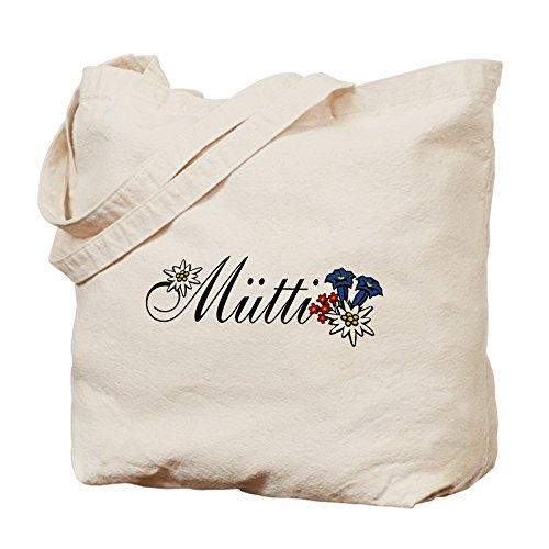 Cafepress–Dear Mutti–Borsa di tela naturale, tessuto in iuta