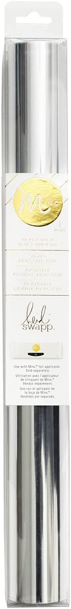 Heidi Swapp MINC Application Machine Reactive Foil by American Crafts | 12-inch x 120-inch Silver Foil Roll (369976)