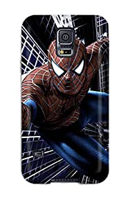 Tpu Case Cover For Galaxy S5 Strong Protect Case - Spiderman In Action Design
