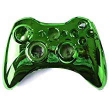 HDE Replacement Xbox 360 Controller Shell Cover & Buttons (Green Chrome)