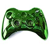 xbox 360 remote shell - HDE XBOX 360 Wireless Controller Shell Replacement Buttons Thumbsticks Custom Cover Case Kit - Chrome Green