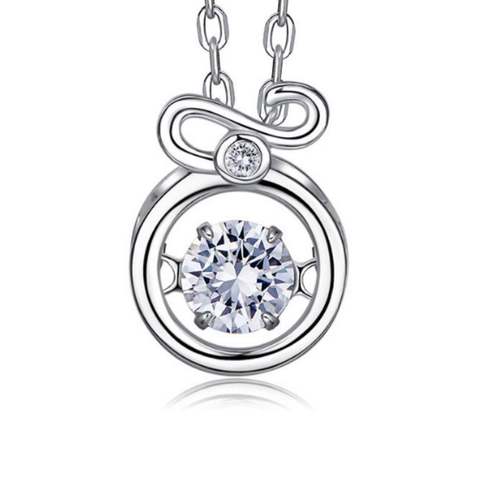 QWERST女性ネックレススターリングシルバー星座人格ペンダントファッションエレガントな絶妙なネックレス最高の贈り物10   B07MSM659L