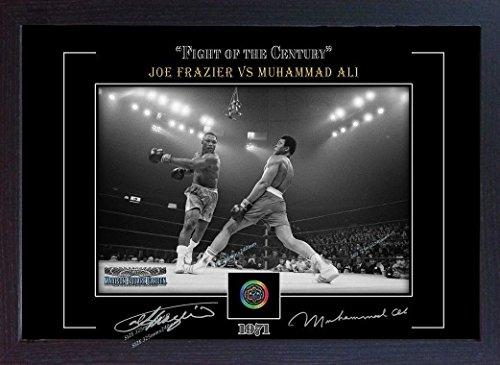 S&E DESING Muhammad Ali Joe Frazier Photo Poster Print Signed Autograph Framed (MDF)