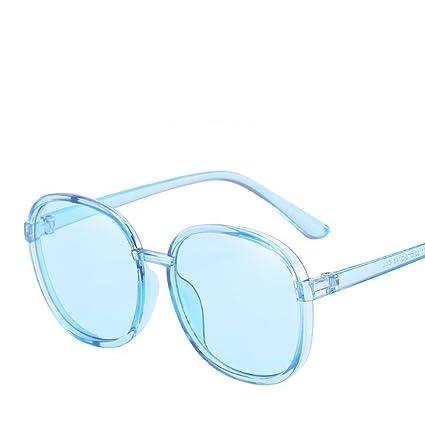 BiuTeFang Gafas de Sol Mujer Hombre Polarizadas Marco Redondo Redondo Cara Gafas de Sol Sombra Espejo