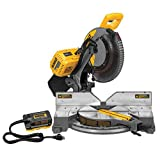 DEWALT DHS716AB FLEXVOLT 120V MAX 12″ Fixed Miter Saw with Adapter (Tool/Adapter Only)