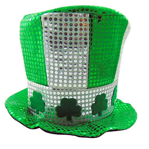 Saint Patrick's Day Top Hat with Shamrocks ()