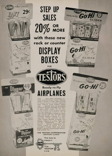 1961 Ad Testers Airplane Glider